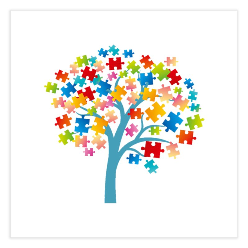 Puzzle Tree Home Fine Art Print by Coachella Valley Autism Society of America