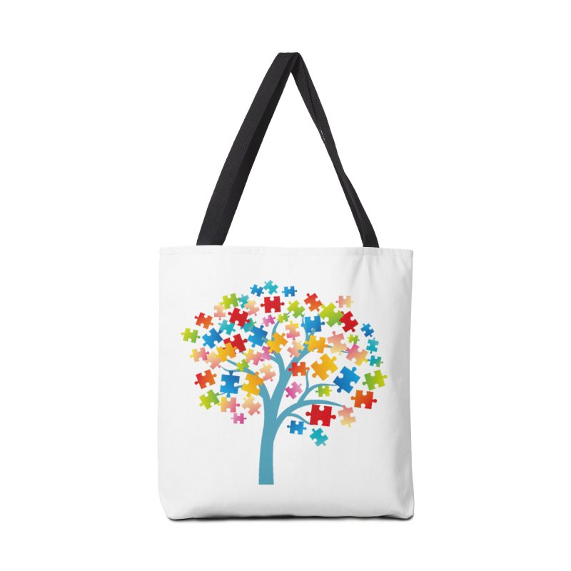 Puzzle Tree Accessories Tote Bag Bag by Coachella Valley Autism Society of America