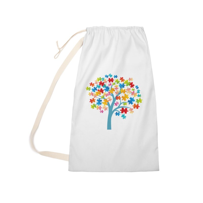 Puzzle Tree Accessories Laundry Bag Bag by Coachella Valley Autism Society of America