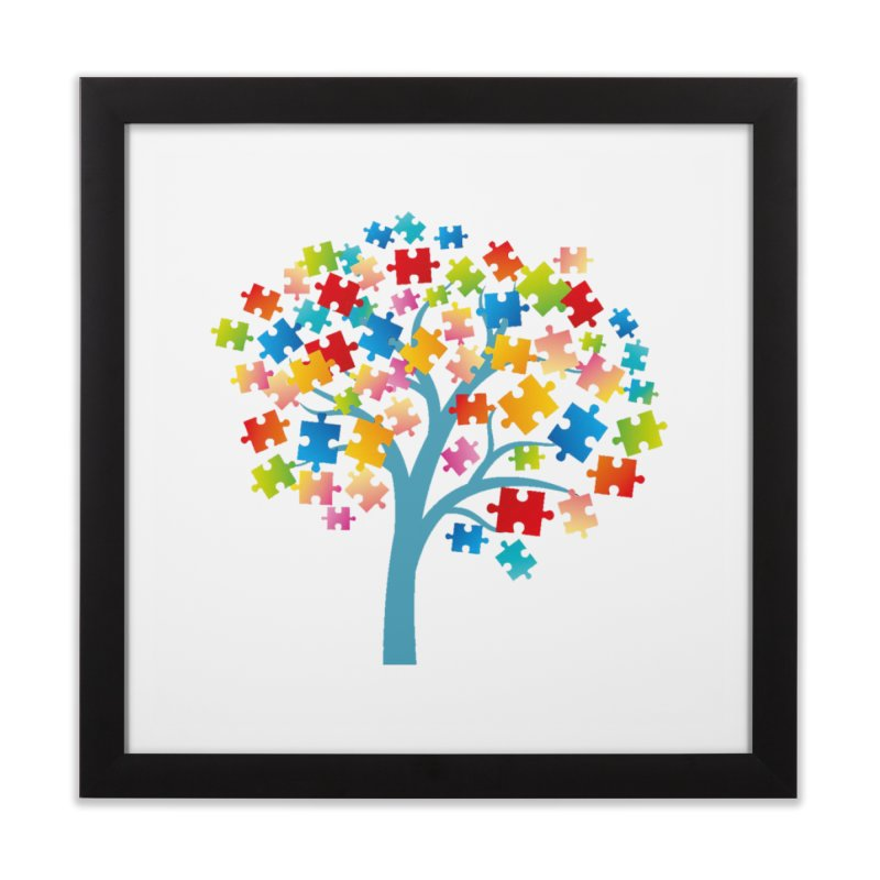 Puzzle Tree Home Framed Fine Art Print by Coachella Valley Autism Society of America