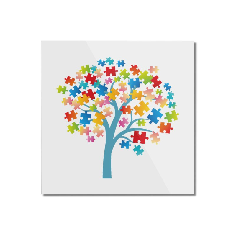 Puzzle Tree Home Mounted Acrylic Print by Coachella Valley Autism Society of America