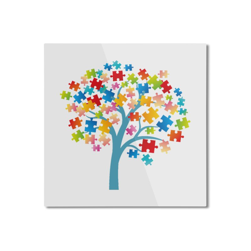Puzzle Tree Home Mounted Aluminum Print by Coachella Valley Autism Society of America