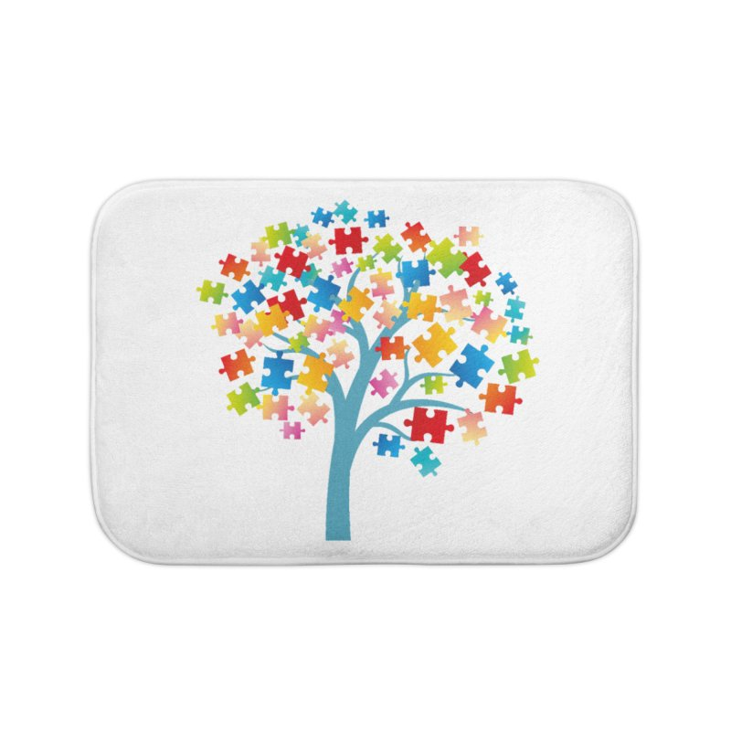 Puzzle Tree Home Bath Mat by Coachella Valley Autism Society of America