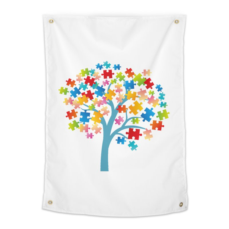 Puzzle Tree Home Tapestry by Coachella Valley Autism Society of America