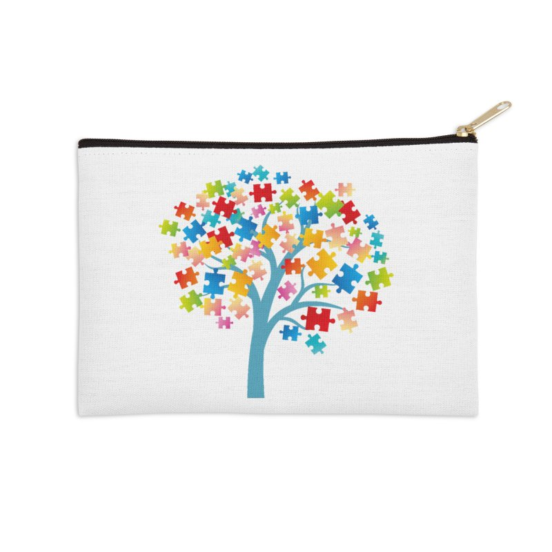 Puzzle Tree Accessories Zip Pouch by Coachella Valley Autism Society of America
