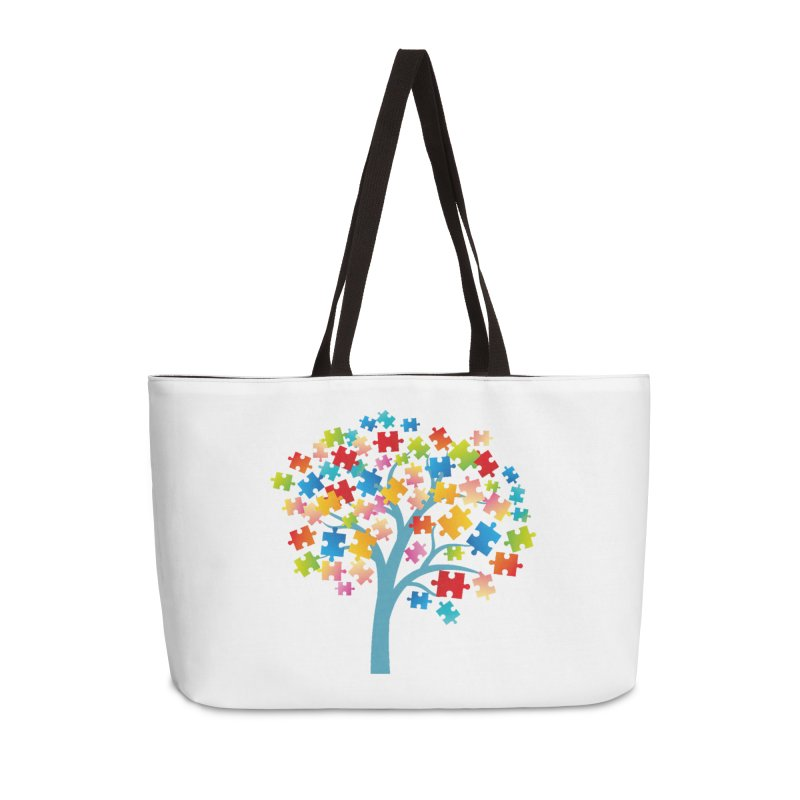 Puzzle Tree Accessories Weekender Bag Bag by Coachella Valley Autism Society of America