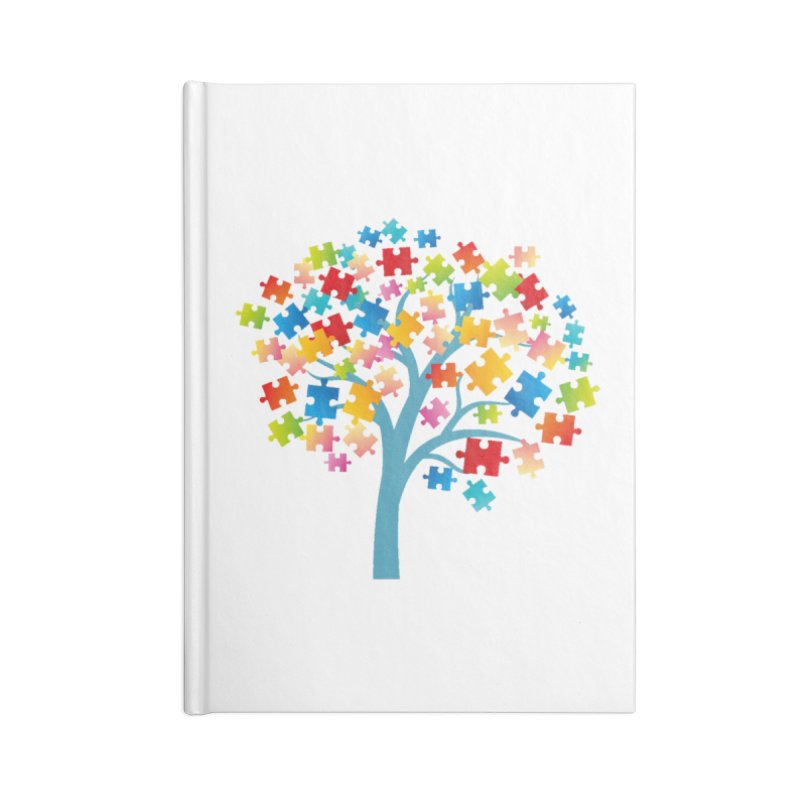 Puzzle Tree Accessories Blank Journal Notebook by Coachella Valley Autism Society of America