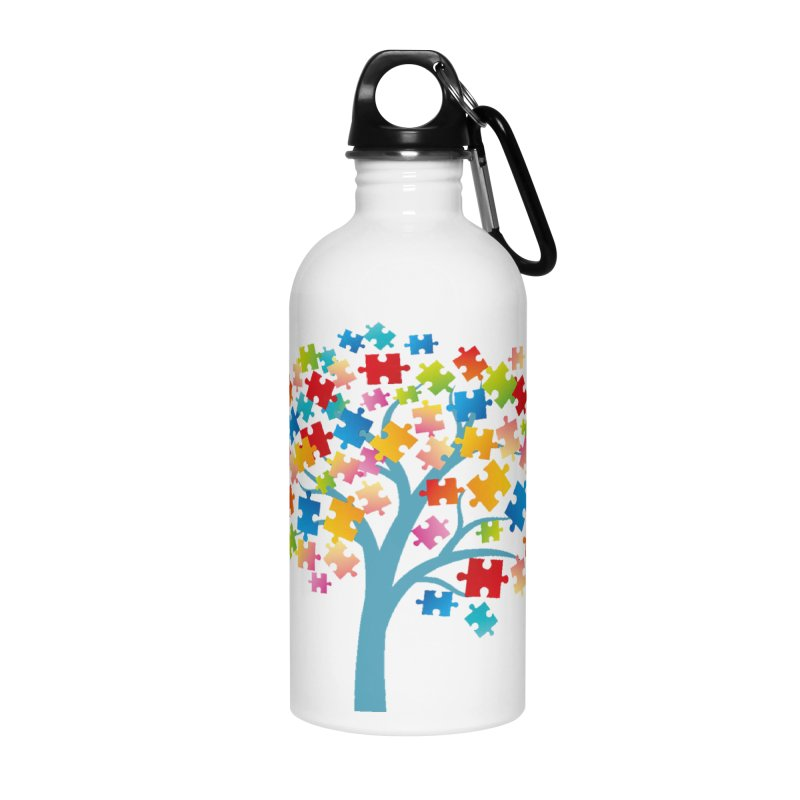 Puzzle Tree Accessories Water Bottle by Coachella Valley Autism Society of America