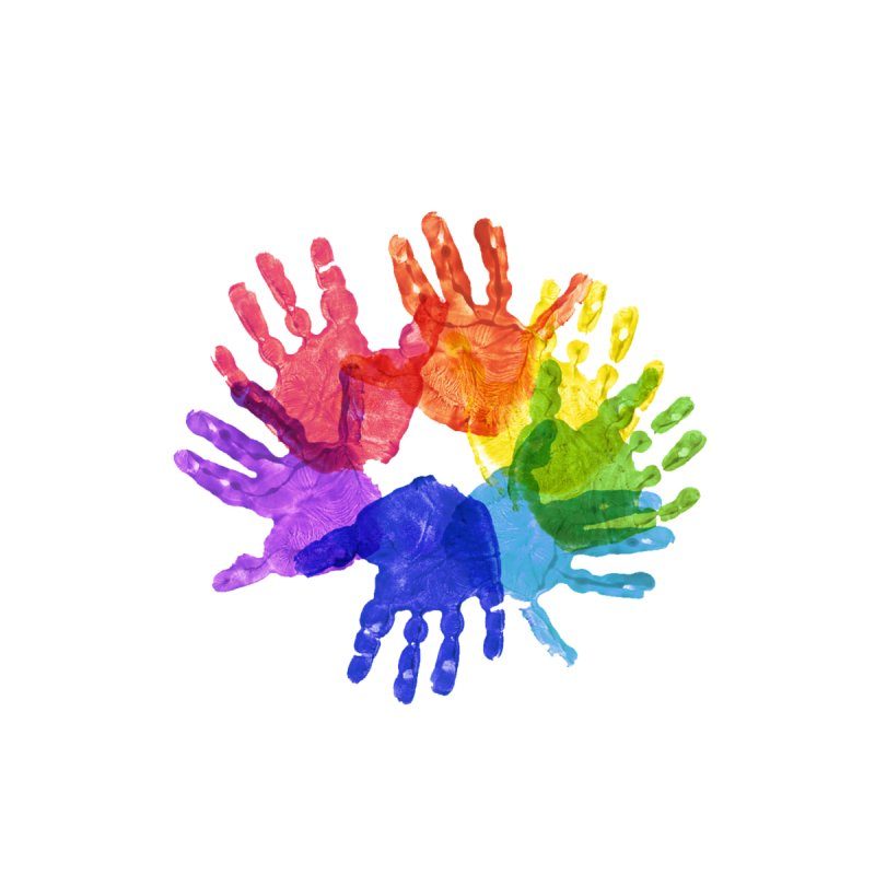 Paint Hands Accessories Bag by Coachella Valley Autism Society of America