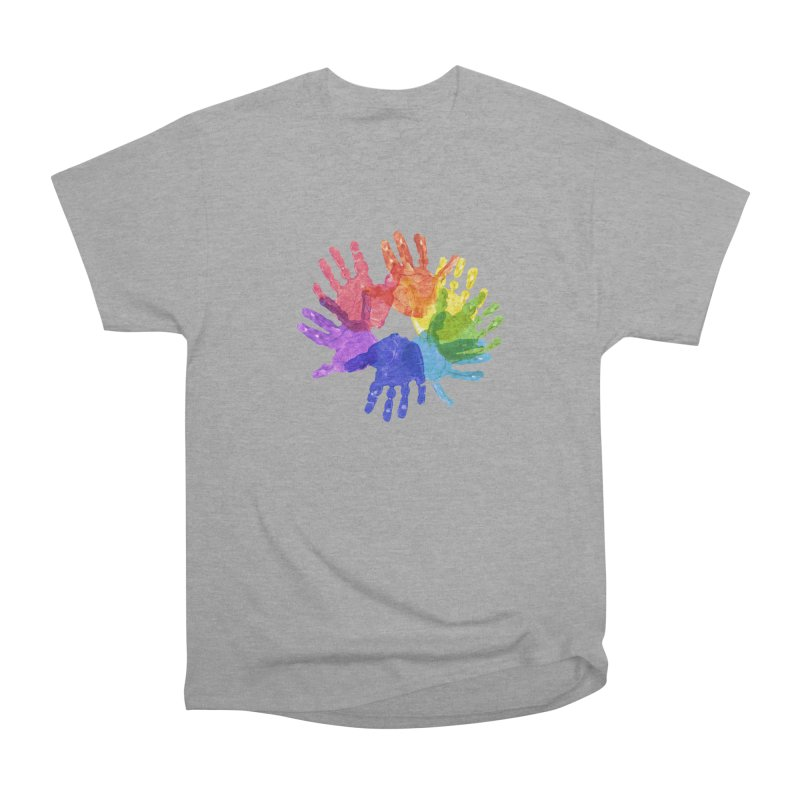 Paint Hands Women's Heavyweight Unisex T-Shirt by Coachella Valley Autism Society of America