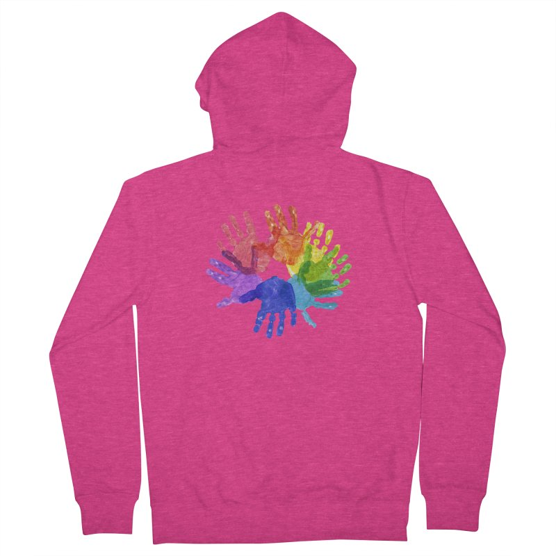 Paint Hands Women's French Terry Zip-Up Hoody by Coachella Valley Autism Society of America