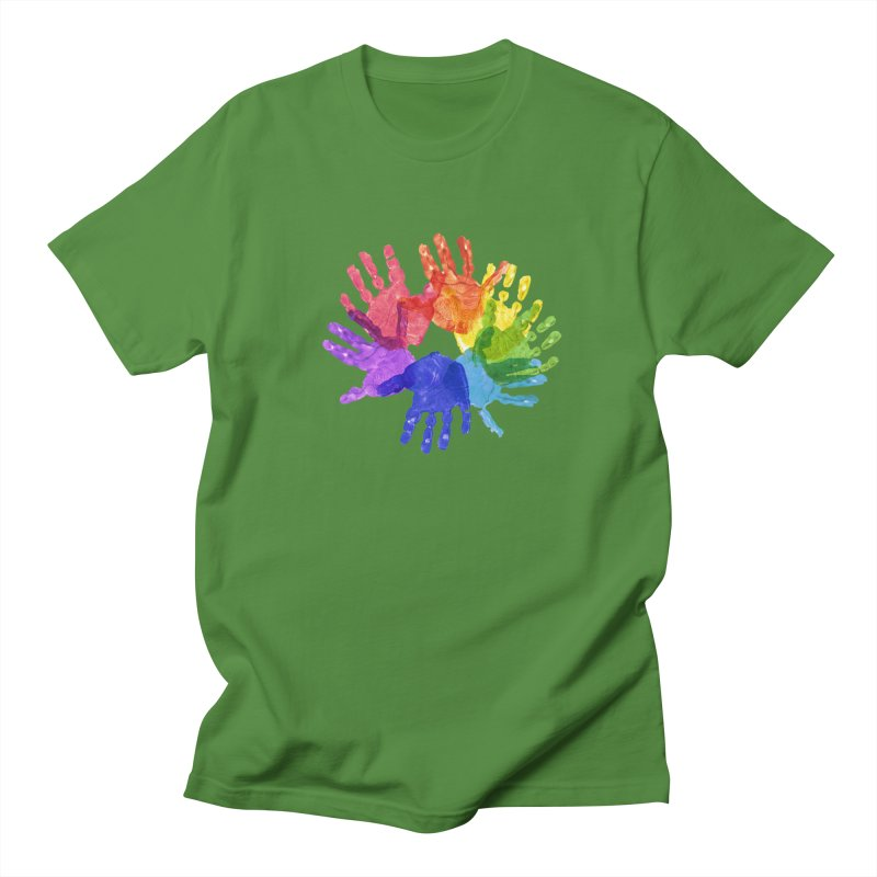 Paint Hands Women's Regular Unisex T-Shirt by Coachella Valley Autism Society of America