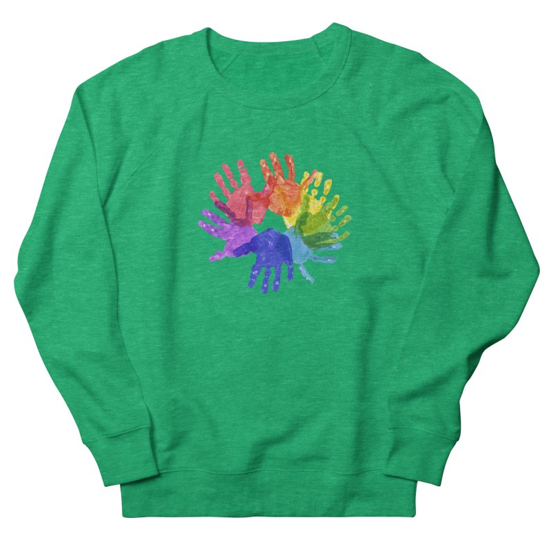 Paint Hands Women's French Terry Sweatshirt by Coachella Valley Autism Society of America