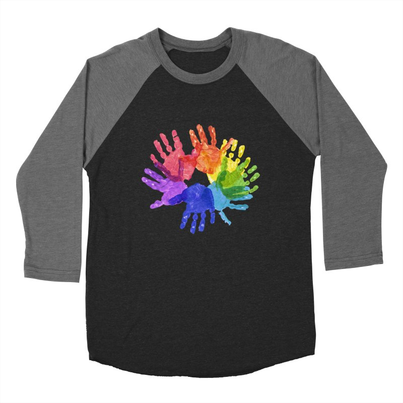 Paint Hands Women's Baseball Triblend Longsleeve T-Shirt by Coachella Valley Autism Society of America