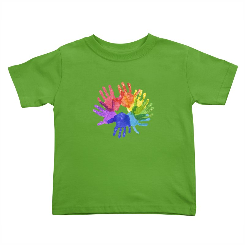 Paint Hands Kids Toddler T-Shirt by Coachella Valley Autism Society of America