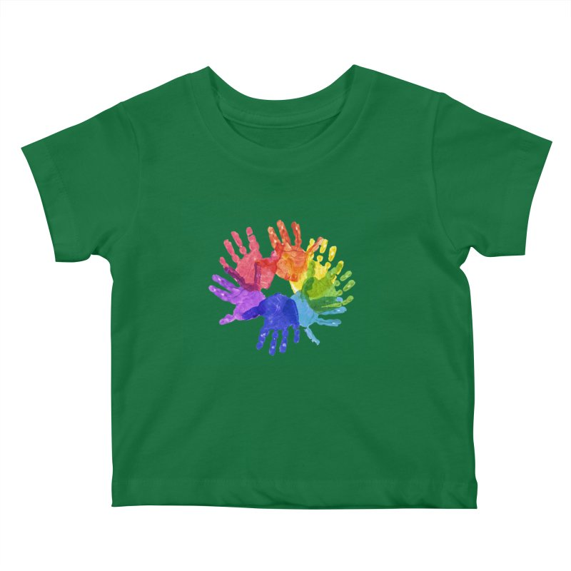 Paint Hands Kids Baby T-Shirt by Coachella Valley Autism Society of America