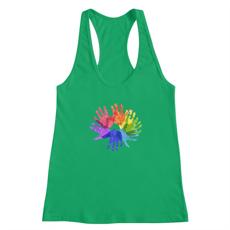 Paint Hands Women's Tank by Coachella Valley Autism Society of America