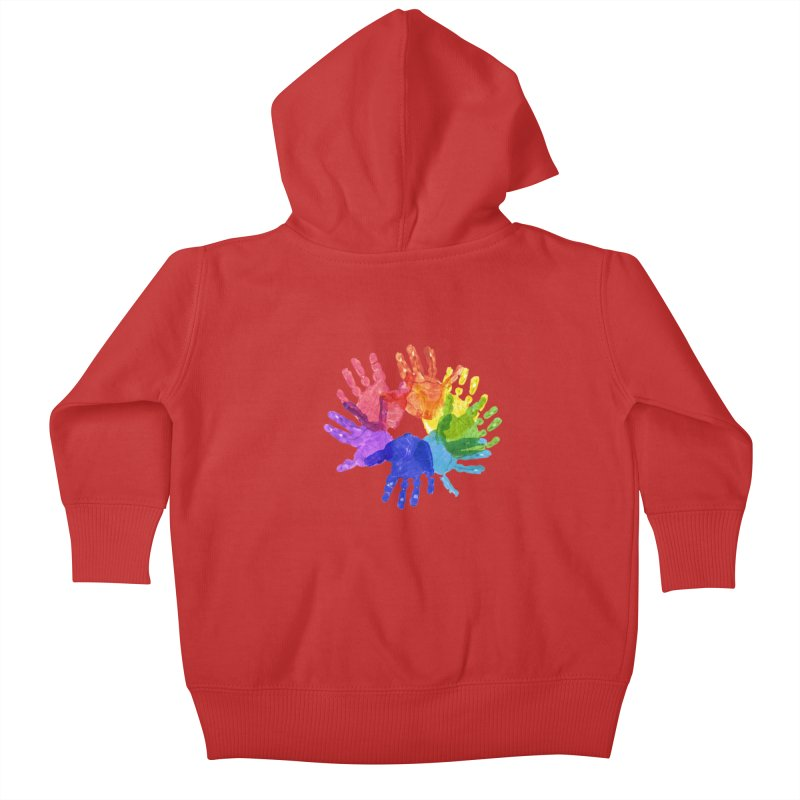 Paint Hands Kids Baby Zip-Up Hoody by Coachella Valley Autism Society of America