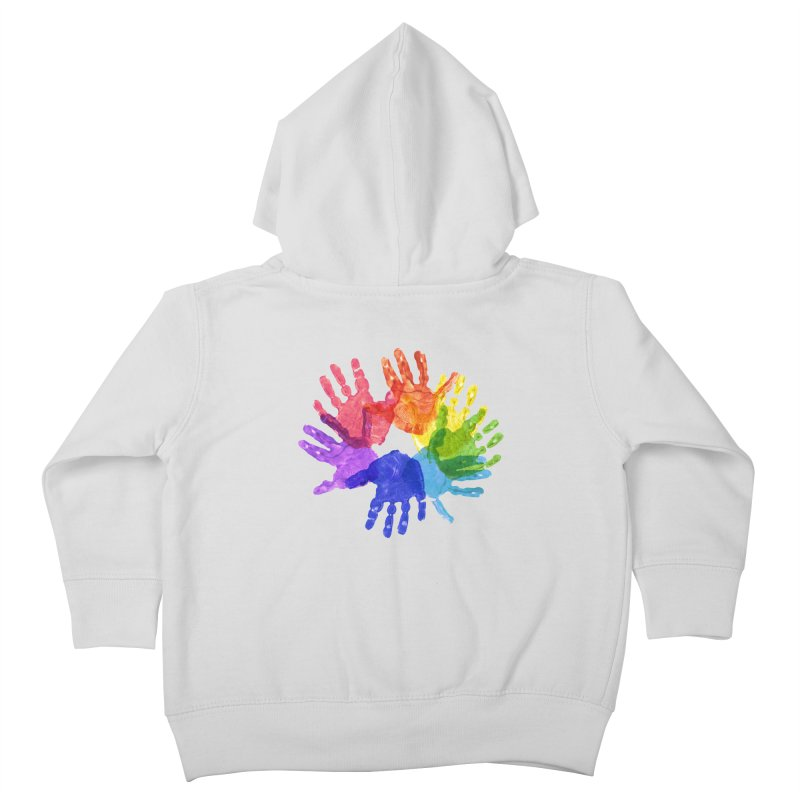 Paint Hands Kids Toddler Zip-Up Hoody by Coachella Valley Autism Society of America