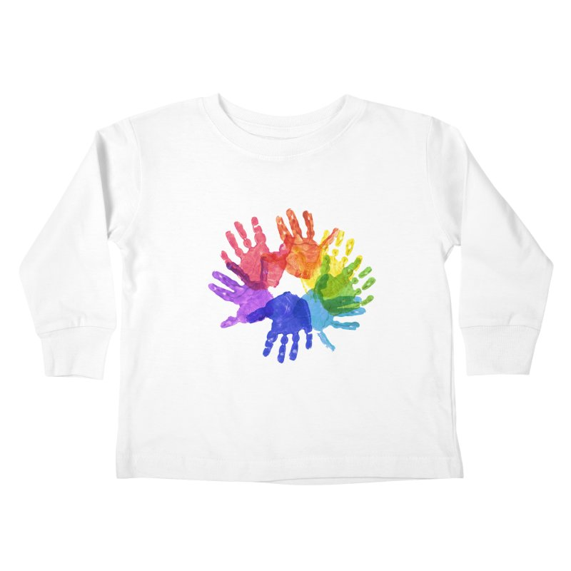 Paint Hands Kids Toddler Longsleeve T-Shirt by Coachella Valley Autism Society of America