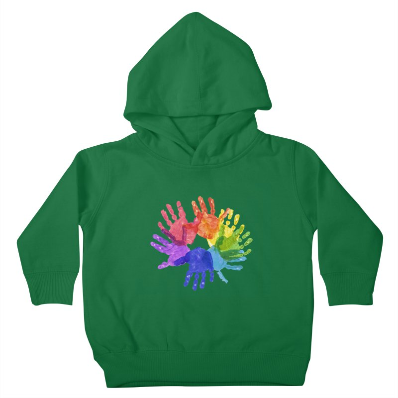 Paint Hands Kids Toddler Pullover Hoody by Coachella Valley Autism Society of America
