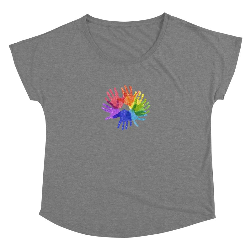 Paint Hands Women's Dolman Scoop Neck by Coachella Valley Autism Society of America