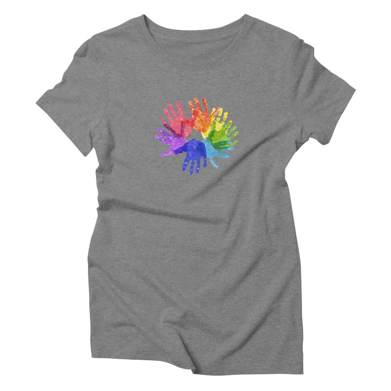 Paint Hands Women's Triblend T-Shirt by Coachella Valley Autism Society of America