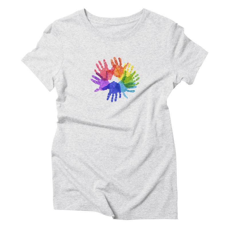 Paint Hands Women's T-Shirt by Coachella Valley Autism Society of America