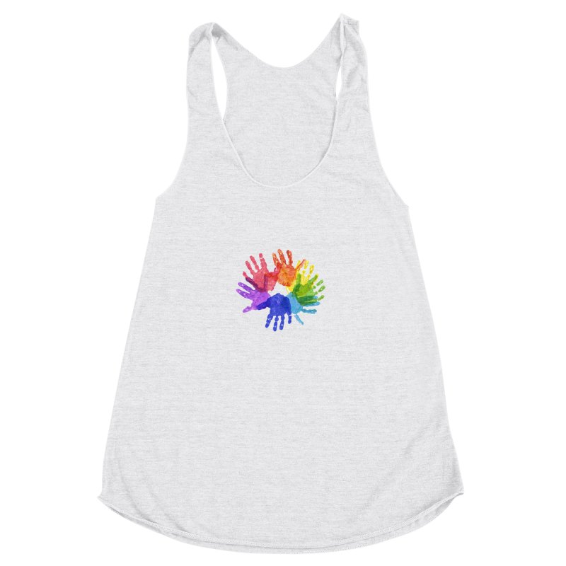 Paint Hands Women's Racerback Triblend Tank by Coachella Valley Autism Society of America