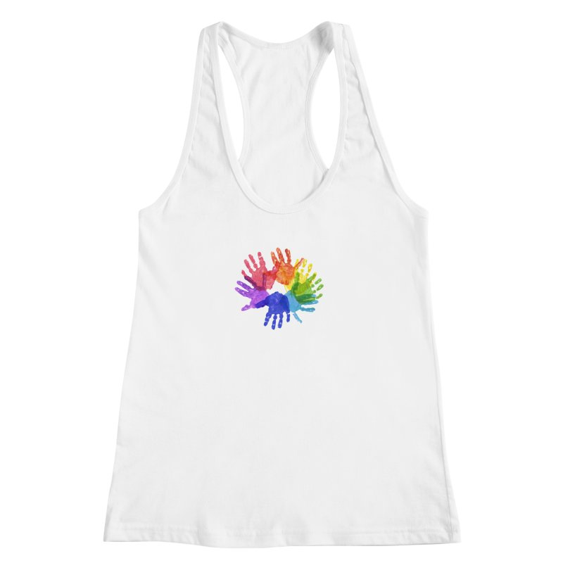 Paint Hands Women's Racerback Tank by Coachella Valley Autism Society of America