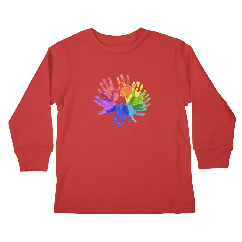 Paint Hands Kids Longsleeve T-Shirt by Coachella Valley Autism Society of America