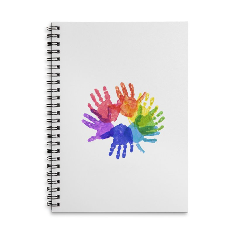 Paint Hands Accessories Lined Spiral Notebook by Coachella Valley Autism Society of America