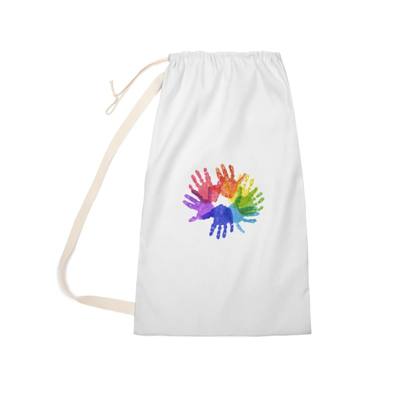 Paint Hands Accessories Laundry Bag Bag by Coachella Valley Autism Society of America