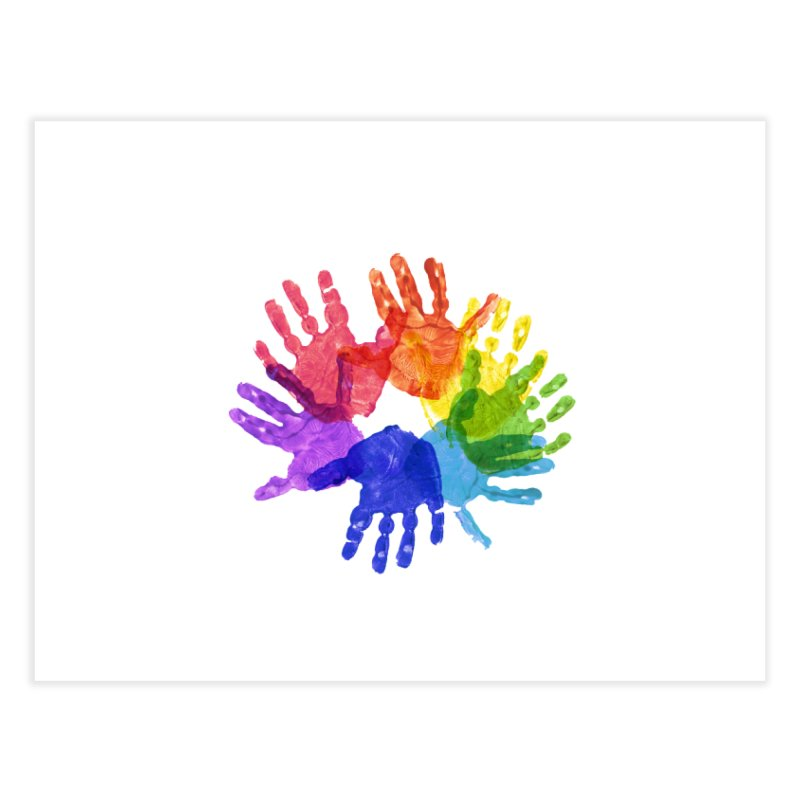 Paint Hands Home Fine Art Print by Coachella Valley Autism Society of America