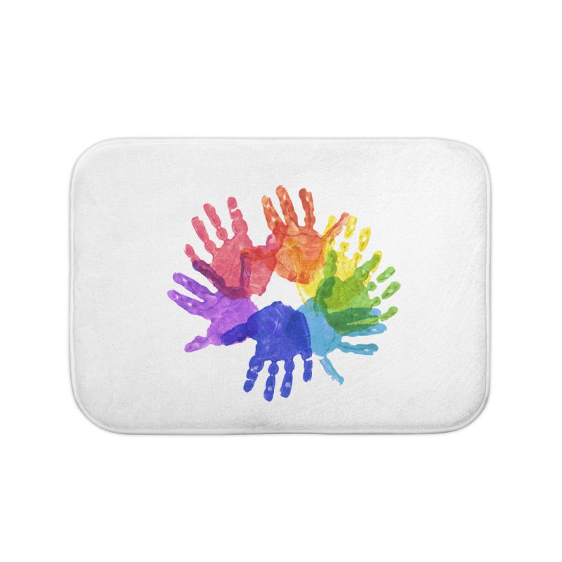 Paint Hands Home Bath Mat by Coachella Valley Autism Society of America