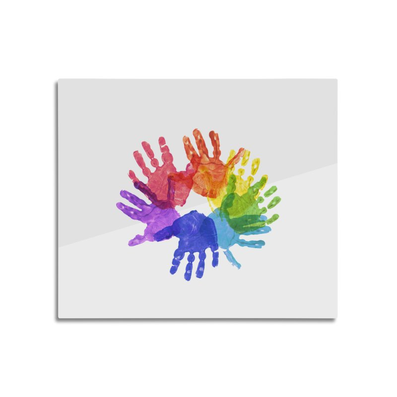 Paint Hands Home Mounted Aluminum Print by Coachella Valley Autism Society of America