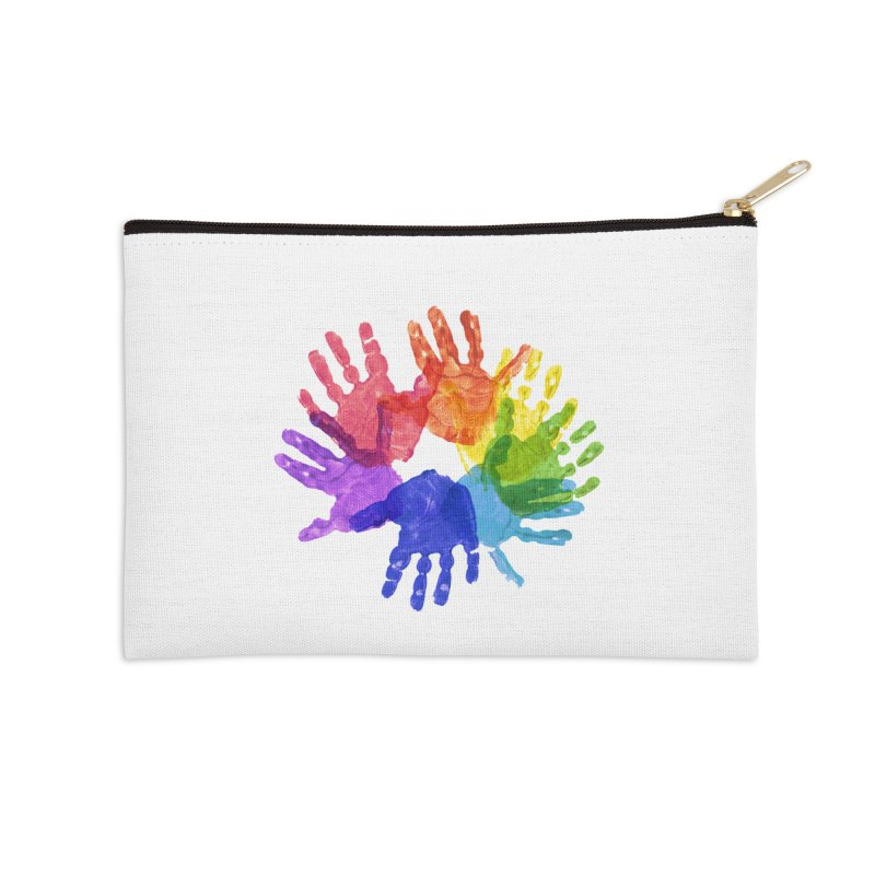 Paint Hands Accessories Zip Pouch by Coachella Valley Autism Society of America