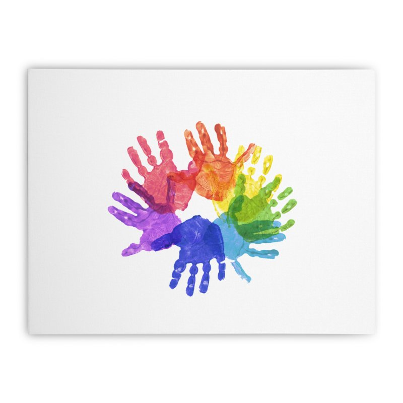 Paint Hands Home Stretched Canvas by Coachella Valley Autism Society of America