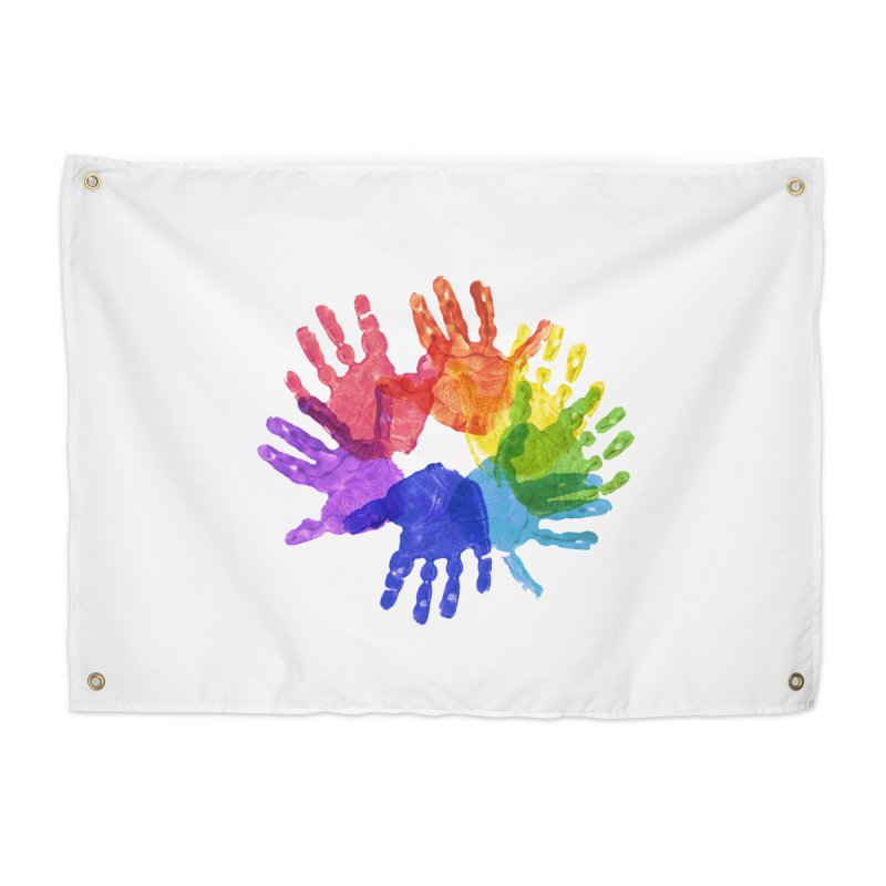 Paint Hands Home Tapestry by Coachella Valley Autism Society of America