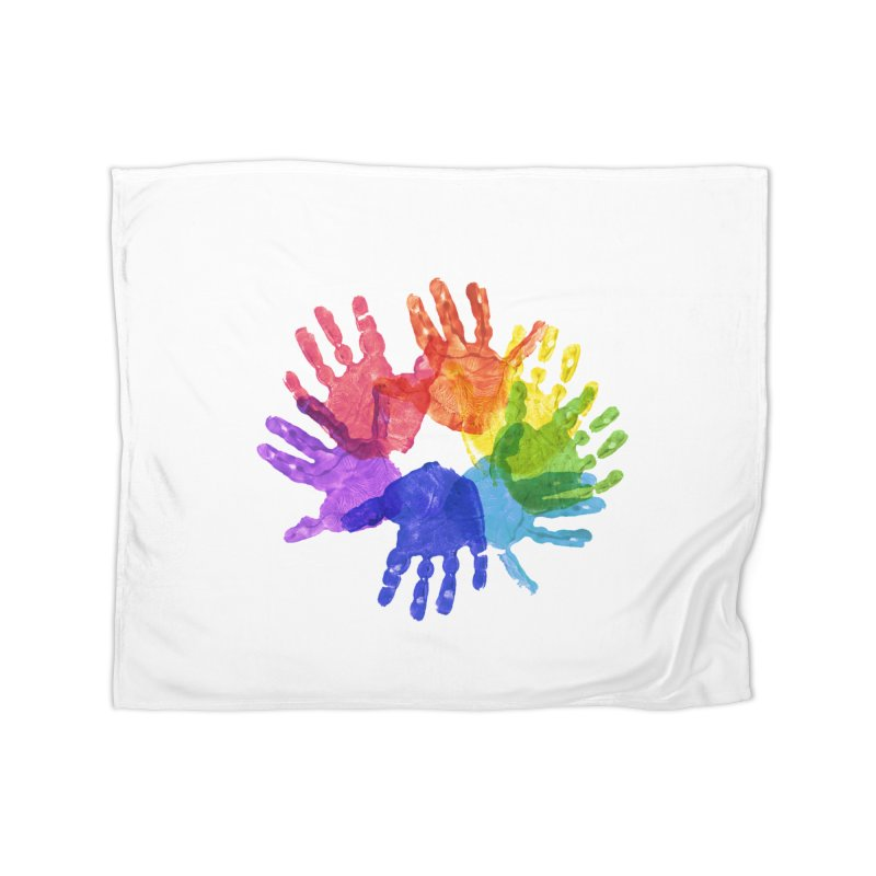 Paint Hands Home Blanket by Coachella Valley Autism Society of America
