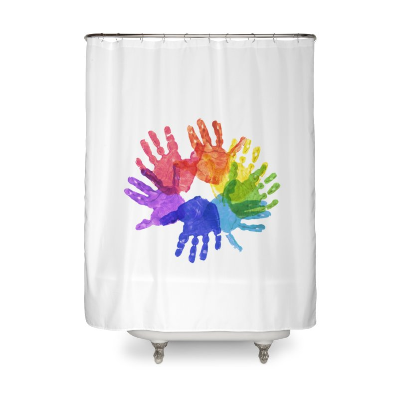Paint Hands Home Shower Curtain by Coachella Valley Autism Society of America