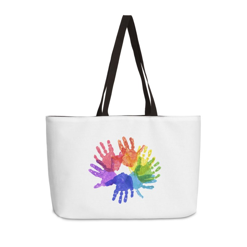 Paint Hands Accessories Weekender Bag Bag by Coachella Valley Autism Society of America