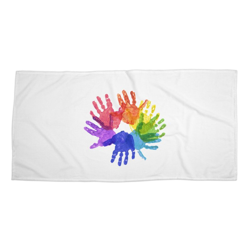 Paint Hands Accessories Beach Towel by Coachella Valley Autism Society of America