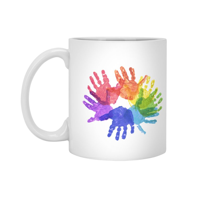 Paint Hands Accessories Standard Mug by Coachella Valley Autism Society of America