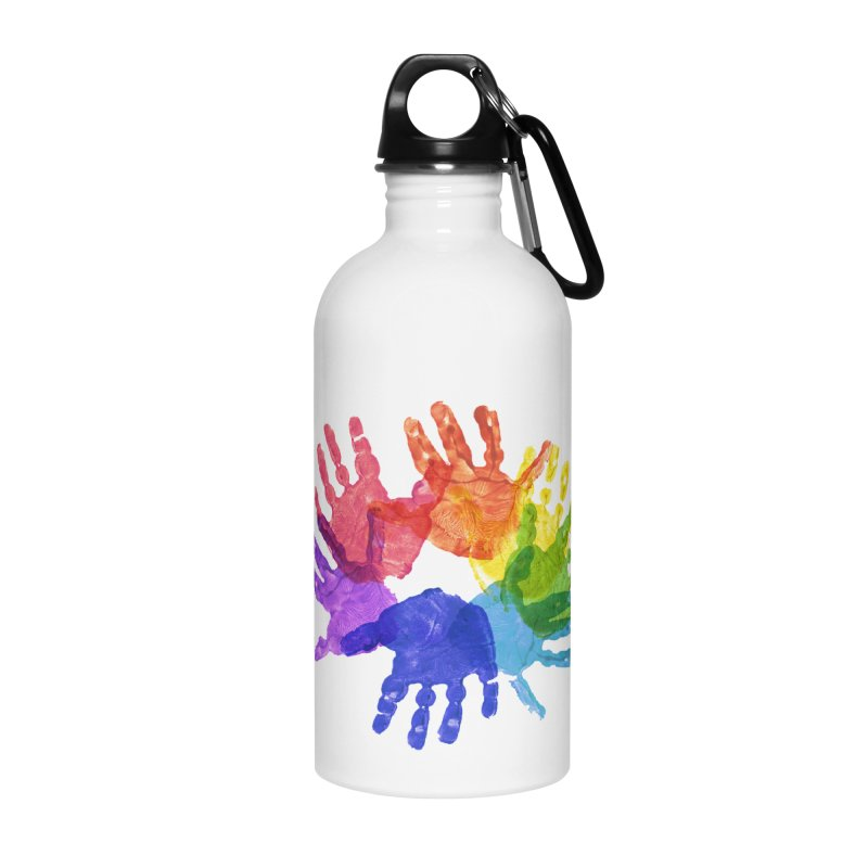 Paint Hands Accessories Water Bottle by Coachella Valley Autism Society of America