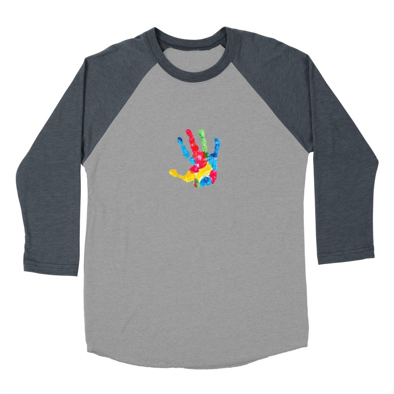 Hand Paint Men's Baseball Triblend Longsleeve T-Shirt by Coachella Valley Autism Society of America