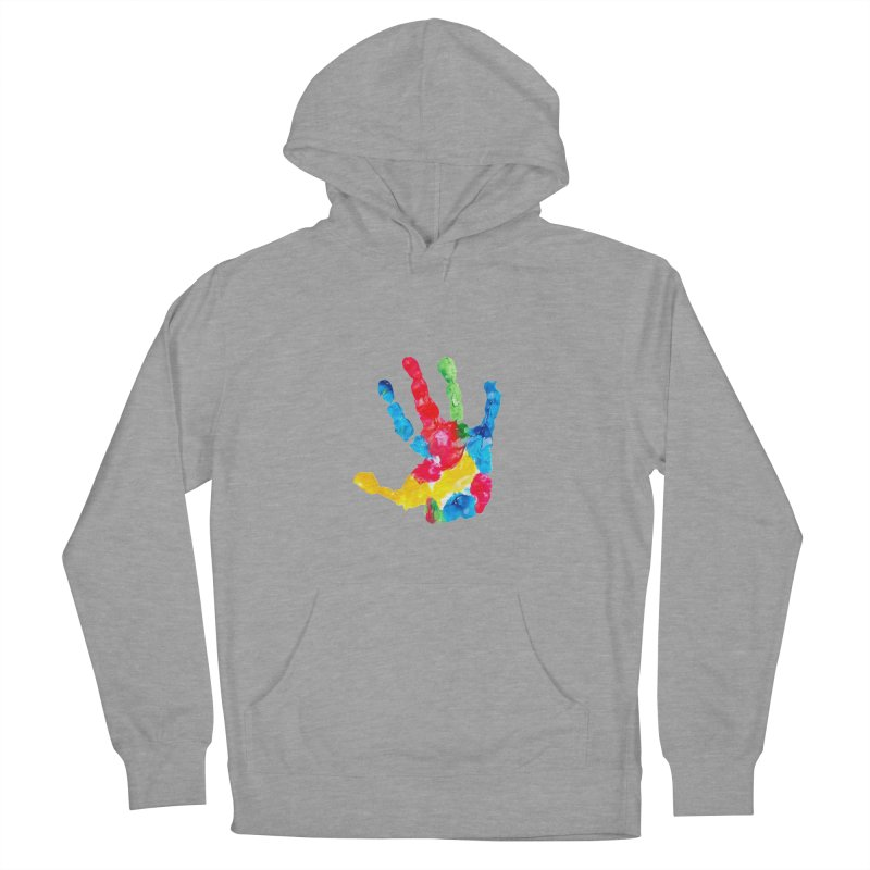 Hand Paint Men's French Terry Pullover Hoody by Coachella Valley Autism Society of America