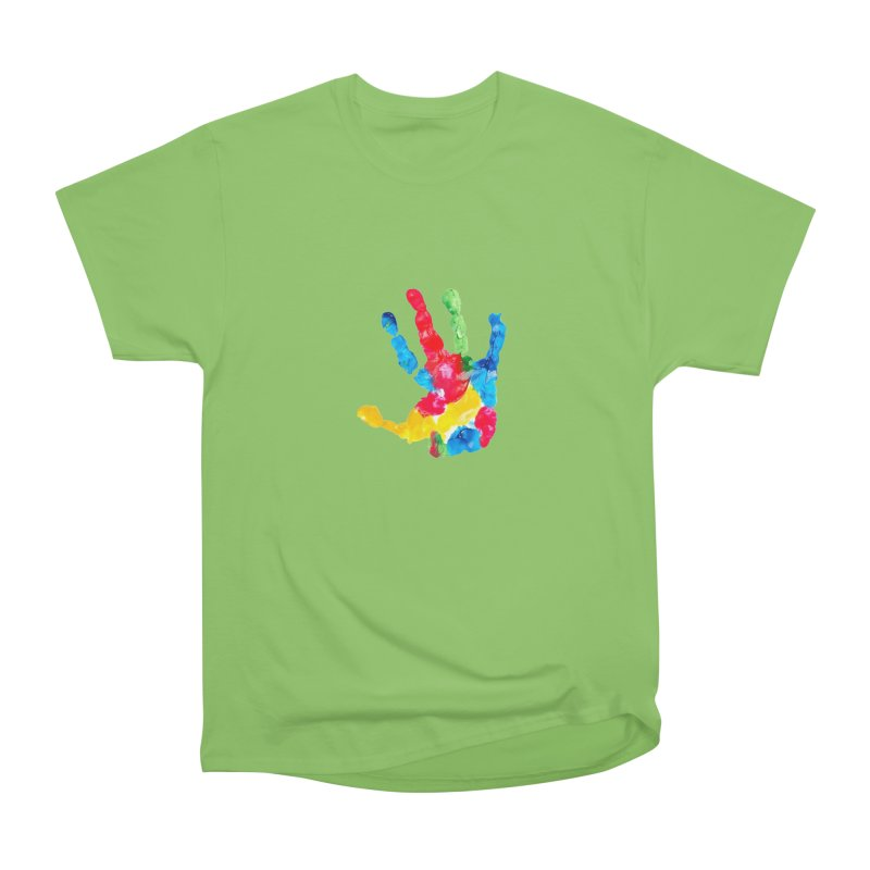 Hand Paint Men's Heavyweight T-Shirt by Coachella Valley Autism Society of America