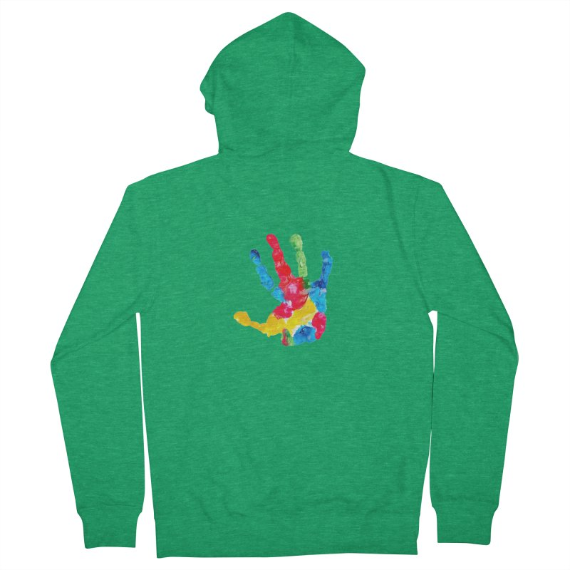 Hand Paint Women's French Terry Zip-Up Hoody by Coachella Valley Autism Society of America