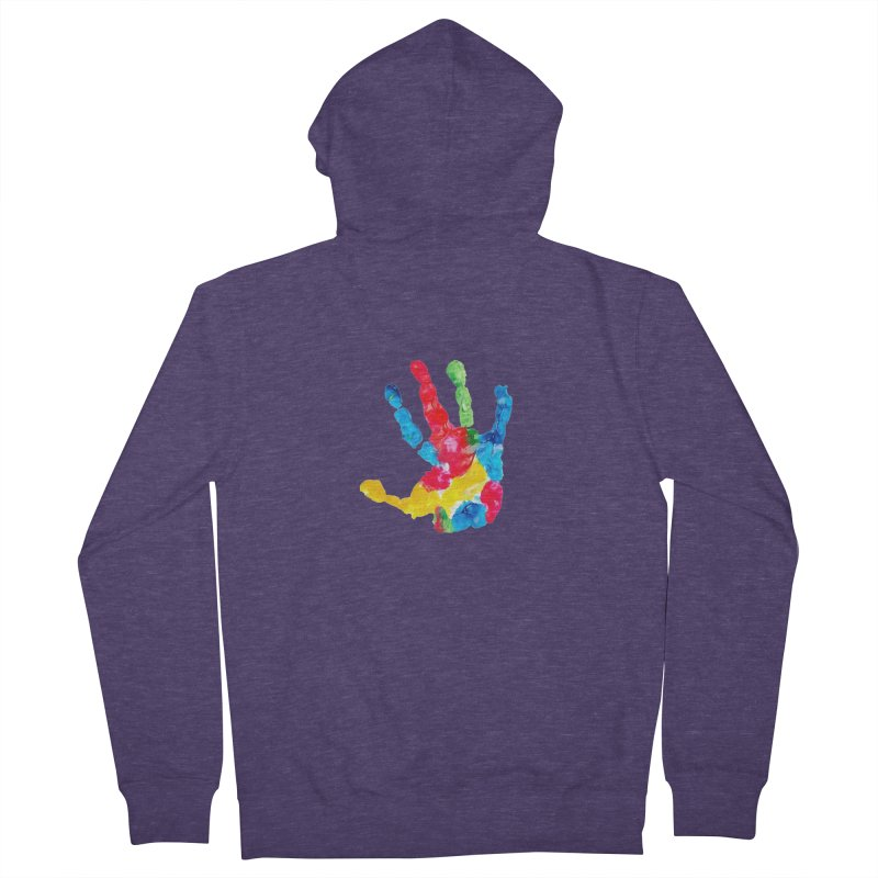 Hand Paint Men's French Terry Zip-Up Hoody by Coachella Valley Autism Society of America
